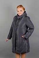 Женское зимнее плащевое пальто