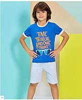 Пижама (домашний костюм) для мальчика ТМ Roly Poly р.5-8 лет (4 шт в ростовке) голубой