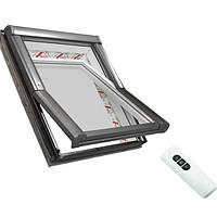 Мансардное окно Designo Rototronic WDT R45K HE WD пластик ПВХ 5x7 Roto / Рото, термоблок, дист. упр.