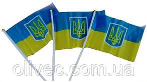 Флажок Украины с гербом 20х30 см.