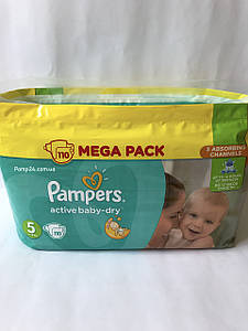 Подгузники Pampers Active Baby Dry - 5 Junior 110 шт. (11 - 18 кг.) Mega Pack
