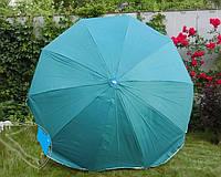 Торговый зонт 2,8м однотонный (серебро, наклон, 10 спиц, спица - пластик)