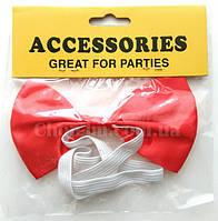 Бабочка-галстук (бабочка красная, карнавальная)