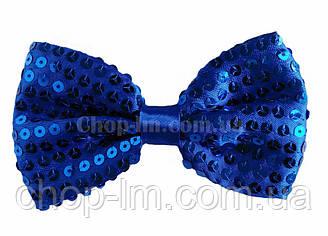 Бабочка-галстук (бабочка синяя, карнавальная)