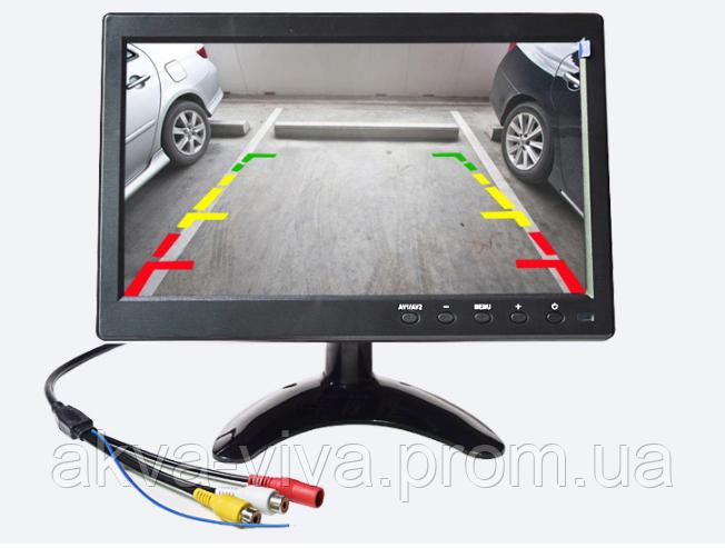 """Автомобильный монитор 10.1"""" дюймов на 2 камеры: с/х, спец техника, краны и прочее"""