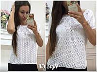 Летняя блузка с открытыми плечами Прошва 16165