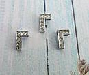 Буква Г серебристая для наборного именного браслета, фото 2