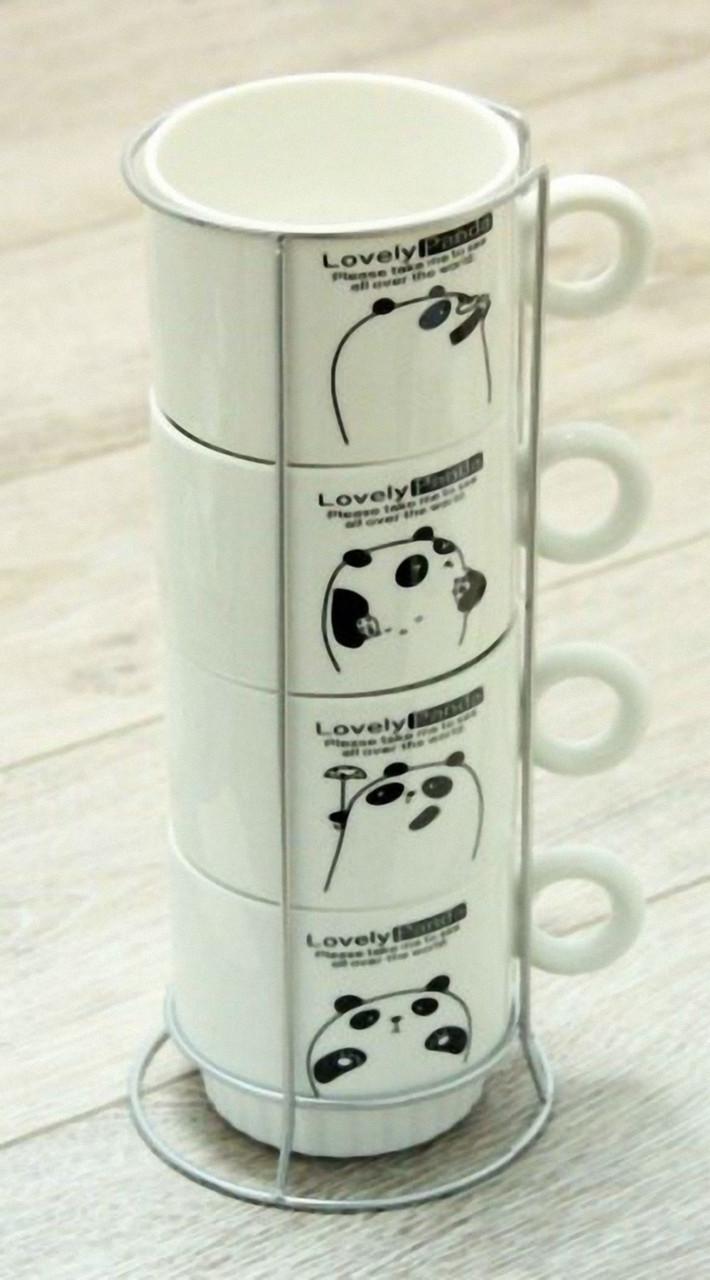 Набір чайний Панда, 250 мл на 4 персони, на підставці
