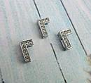 Буква Г серебристая для наборного именного браслета, фото 3