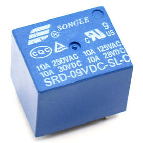 Реле SRD-09VDC-SL-C 10A