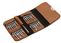 (25 в 1) Набор маленьких отвёрток в чехле (коричневый), фото 1