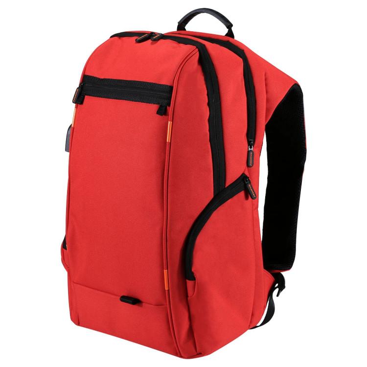Рюкзак WTYD Solar Backpack Рюкзак с солнечной панелью, USB, Порт для наушников, Красный (SUN0427)