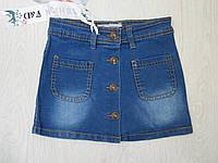 Джинсовая юбка  для девочки , Венгрия , F&D,  8-10-12-14-16 лет .,
