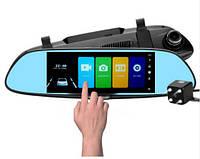 """Зеркало - видеорегистратор 7.0"""" с сенсорным экраном, видеопарковкой и камерой заднего вида. Модель ЕА-101, фото 1"""