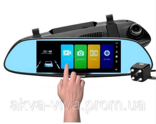 """Зеркало - видеорегистратор 7.0"""" с сенсорным экраном, видеопарковкой и камерой заднего вида. Модель ЕА-101"""