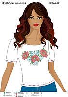 Женская футболка с рисунком для вышивки бисером.
