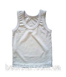 Майка классическая белая для мальчика 1-4 года