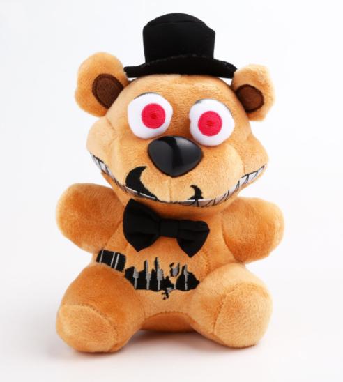 Мягкая игрушка 22 см. Фредди кошмарный 5 ночей с Фредди Аниматроники. Фнаф плюшевая