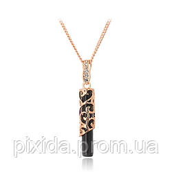 Подвеска Инфанта кварцит австрийский кристалл покрытие 18К золото