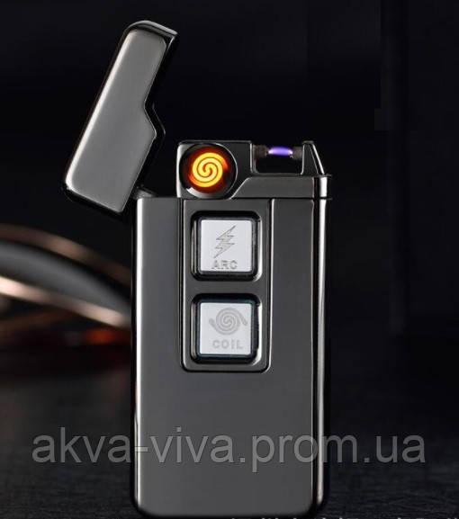 USB зажигалка электроимпульсная + электронная №15