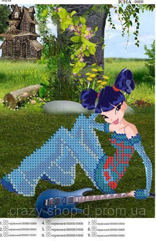 """""""Фея Муза"""".  Детская картинка  для вышивки бисером."""