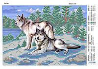 """""""Волки."""" Схема для вышивки бисером оберег"""