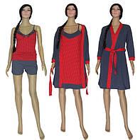 NEW! Выгодная покупка со скидкой 23% - наборы ночная рубашка, пижама с шортиками и халат!