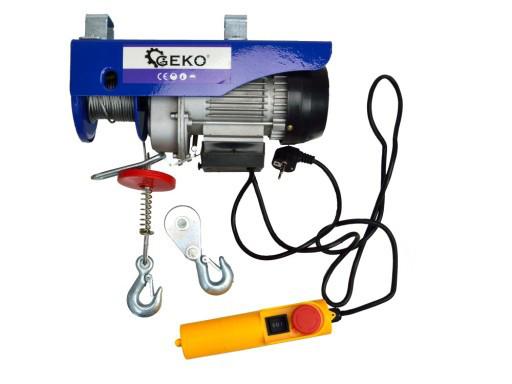 Лебедка канатная электрическая GEKO G01087 300кг