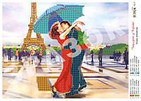 """""""Поцелуй в Париже"""".  Схема для вышивки бисером."""