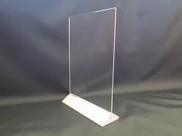 Менюхолдеры, тейбл тенты, подставки настольные под полиграфию А4 формата вертикальные
