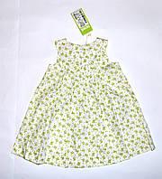 Платье для девочки ,ПЛ 111,с зелеными розамибелый, ТМ Бэмби Украина 86(р) на 1 годик