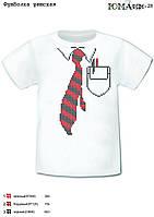"""Детская футболка с рисунком для вышивки бисером """"Галстук"""""""