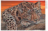 """""""Леопард"""".  Схема для вышивки бисером А2."""