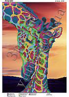 """""""Жирафы"""".  Схема для вышивки бисером"""