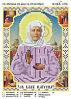 """""""Св. Матрёна."""".  Схема  для вышивки бисером."""