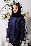 Куртка детская для девочки Маргарита джинс демисезон 122см съемный хомут