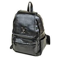 Стильный городской рюкзак для девушки черный, фото 1