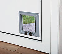 Дверь для котов 2х сторонняя, без тунеля, серая. Трикси 3862/2