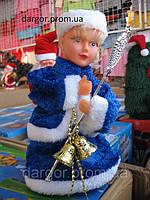 Снегурочка с волшебной палочкой и золотыми колокольчиками в руке