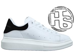 Женские кроссовки реплика Alexander McQueen Oversized Sneaker White Black