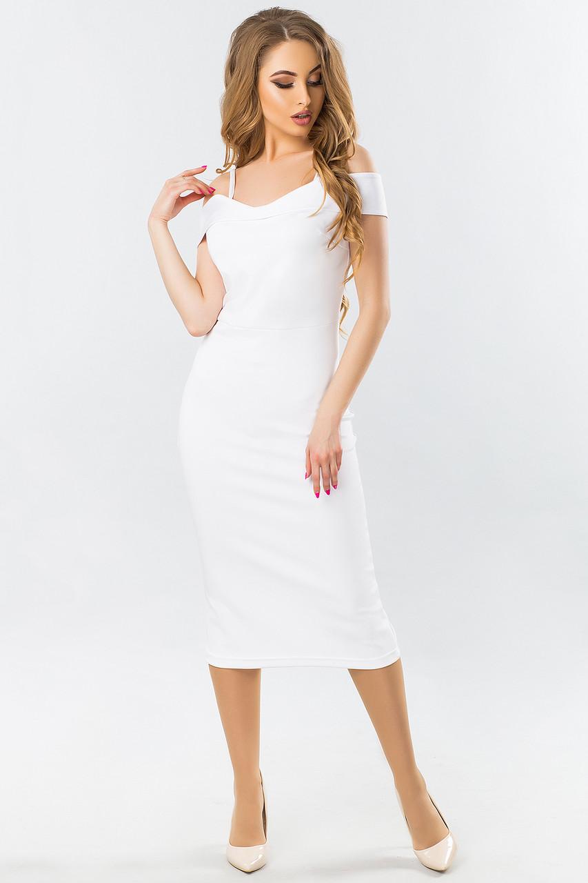 eadd1d24304f Белое Вечернее Платье На Бретелях, цена 520 грн., купить в Киеве ...
