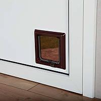 Дверь для котов 2х сторонняя, без тунеля, коричневая. Трикси 3862/3