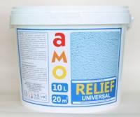 Структурная краска AMO Relief АМО Рельеф-СТ, 10 л