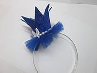 Святкова корона для принцеси синя (дитячий ободок)