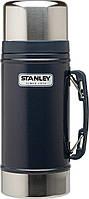 Пищевой термос с ручкой Stanley Classic 0,7 л темно-синий
