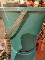 Ведро хозяйственное чёрное с мерной шкалой 12 литров