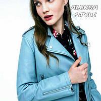 Женская стильная косуха из плотного кож зама, в расцветках, фото 1
