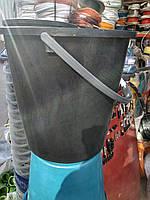 Ведро хозяйственное чёрное 15 литров