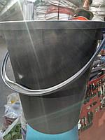 Ведро хозяйственное чёрное 18 литров
