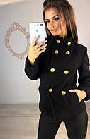 Пальто женское черное весна осень 21738